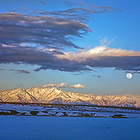 14,252' White Mountain Peak soars high above the Owens Valley of California.
