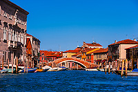Murano. Murano is a series of islands linked by bridges in the Venetian Lagoon, Venice, Italy.
