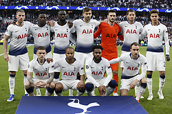BRITAIN-LONDON-FOOTBALL-UEFA CHAMPIONS LEAGUE-TOTTENHAM HOTSPUR VS AJAX.(190430) -- LONDON, April 30, 2019  Tottenham Hotspur team pose for a group photograph before the UEFA Champions League Semifinal First Leg match between Tottenham Hotspur and Ajax at The Tottenham Hotspur Stadium in London, Britain on April 30, 2019. Ajax won 1-0.  FOR EDITORIAL USE ONLY. NOT FOR SALE FOR MARKETING OR ADVERTISING CAMPAIGNS. NO USE WITH UNAUTHORIZED AUDIO, VIDEO, DATA, FIXTURE LISTS, CLUB/LEAGUE LOGOS OR ''LIVE'' SERVICES. ONLINE IN-MATCH USE LIMITED TO 45 IMAGES, NO VIDEO EMULATION. NO USE IN BETTING, GAMES OR SINGLE CLUB/LEAGUE/PLAYER PUBLICATIONS. (Credit Image: © Matthew Impey/Xinhua via ZUMA Wire)