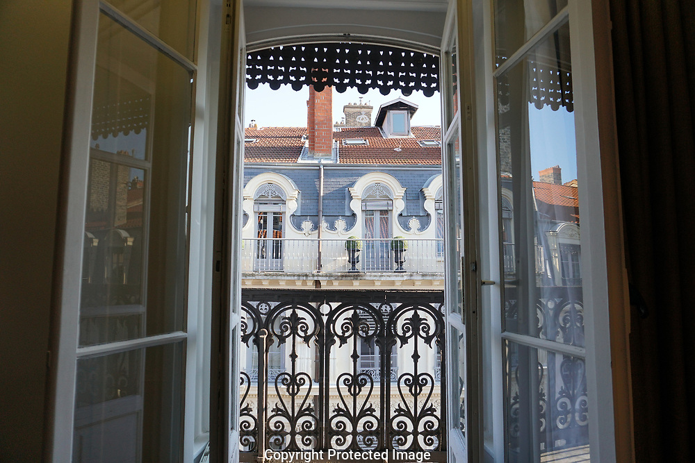 Hotel scene In Lyon France<br /> Photo by Dennis Brack