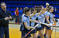 ROTTERDAM -  Minke Smabers. Finale tussen Laren D2 en KZ D2 tijdens het Landskampioenschap reserveteam zaal 2013. Laren wint na strafballen. FOTO KOEN SUYK