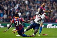 Moussa Sissoko of Tottenham Hotspur (R) fouled by Timothy Fosu-Mensah of Crystal Palace (L). Premier league match, Tottenham Hotspur v Crystal Palace at Wembley Stadium in London on Sunday 5th November 2017.<br /> pic by Steffan Bowen, Andrew Orchard sports photography.