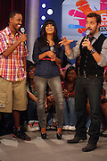l to r: Terrence J, Rosci and Jeremy Pivens at BET's 106 & Park promotion of Jeremy Pivens' new film ' The Goods' on August 6, 2009 in New York City