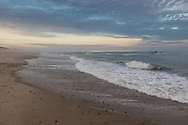 Surf at sunset on Nauset Beach at the end of Christmas Day.