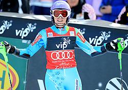 04.01.2013, Crveni Spust, Zagreb, AUT, FIS Ski Alpin Weltcup, Slalom, Damen, 1. Lauf, im Bild Tina Maze (SLO) // Tina Maze of Slovenia reacts // after 1st Run of ladies Slalom of the FIS ski alpine world cup at Crveni Spust course in Zagreb, Croatia on 2013/01/04. EXPA Pictures © 2013, PhotoCredit: EXPA/ Pixsell/ Zeljko Lukunic..***** ATTENTION - for AUT, SLO, SUI, ITA, FRA only *****