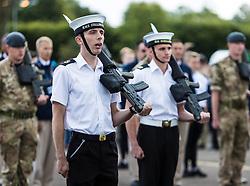 The Princess Royal, Princess Anne attended the final rehearsal of the Royal Edinburgh Military Tattoo at Redford Barracks in Edinburgh.