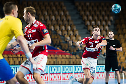 Jonas Samuelsson of Aalborg Nadbold during handball match between RK Celje Pivovarna Lasko (SLO) and Aalborg Handbold (DEN) in Group Phase B of EHF Champions League 2020/21, on 16 September, 2020 in Arena Zlatorog, Celje, Slovenia. Photo by Grega Valancic / Sportida