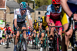 Wout POELS of Team Sky on his Pinarello bike during the 2nd of 3 climbs with 29 km to go at Mur de Huy of the 2018 La Flèche Wallonne race, Huy, Belgium, 18 April 2018, Photo by Pim Nijland / PelotonPhotos.com | All photos usage must carry mandatory copyright credit (Peloton Photos | Pim Nijland)