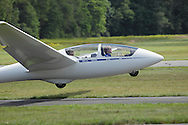 Wurtsboro, NY - An ASK-21 glider takes off at Wurtsboro Airport on Aug. 30, 2009.