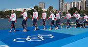 "Rio de Janeiro. BRAZIL   Women's Eights Final. Silver Medalist GBR W8+. Bow. Katie<br /> GREVES, Melanie  WILSON, Frances HOUGHTON, Polly  SWANN,  Jessica EDDIE,  Olivia CARNEGIE-BROWN, Karen BENNETT, Zoe LEE and  Zoe DE TOLEDO, 2016 Olympic Rowing Regatta. Lagoa Stadium, Copacabana,  ""Olympic Summer Games""<br /> Rodrigo de Freitas Lagoon, Lagoa. Local Time 11:40:34  Saturday  13/08/2016<br /> [Mandatory Credit; Peter SPURRIER/Intersport Images]"