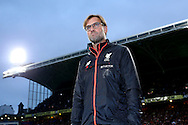 Jurgen Klopp, the Liverpool manager looks on .Premier League match, Crystal Palace v Liverpool at Selhurst Park in London on Saturday 29th October 2016.<br /> pic by John Patrick Fletcher, Andrew Orchard sports photography.