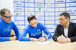 Srdjan Djordjevic, Snezana Vukmirovic Rodic and Roman Dobnikar during press conference when Slovenian athletes and their coaches sign contracts with Athletic federation of Slovenia for year 2016, on February 25, 2016 in AZS, Ljubljana, Slovenia. Photo by Vid Ponikvar / Sportida