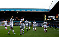 Leeds United's Tyler Roberts celebrates scoring his side's third goal with teammates <br /> <br /> Photographer Alex Dodd/CameraSport<br /> <br /> The EFL Sky Bet Championship - Leeds United v Charlton Athletic - Wednesday July 22nd 2020 - Elland Road - Leeds <br /> <br /> World Copyright © 2020 CameraSport. All rights reserved. 43 Linden Ave. Countesthorpe. Leicester. England. LE8 5PG - Tel: +44 (0) 116 277 4147 - admin@camerasport.com - www.camerasport.com