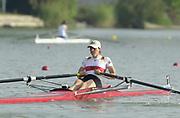 Seville, Andulucia, SPAIN<br /> <br /> 2002 World Rowing Championships - Seville - Spain Sunday 15/09/2002<br /> <br /> GER LW 1X Marie Drager<br /> <br /> [Mandatory Credit:Peter SPURRIER/Intersport Images]
