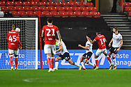 Goal - Niclas Eliasson (19) of Bristol City scores a goal to make the score 2-1 during the The FA Cup fourth round match between Bristol City and Bolton Wanderers at Ashton Gate, Bristol, England on 25 January 2019.
