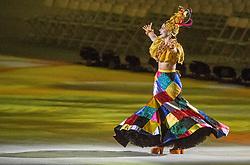 21-08-2016 BRA: Olympic Games day 22, Rio de Janeiro<br /> Rio neemt afscheid van de Olympische Spelen, sluitingsceremonie met veel dans, muziek en saaiheid