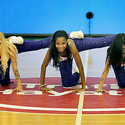 Anadolu Efes's show girls during their Turkish Basketball League match Anadolu Efes between Ted Kolej at the Ayhan Sahenk Arena in Istanbul, Turkey on Sunday, 31 March, 2013. Photo by TURKPIX