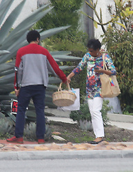 EXCLUSIVE: Meghan Markle Mom Doria Radlan has the family over to Easter dinner,. 01 Apr 2018 Pictured: Saundra Johnson. Photo credit: APEX / MEGA TheMegaAgency.com +1 888 505 6342