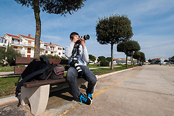 Photographer, Ziga Zupan of Sportida during prologue (2km) of 13th Istrian Spring Trophy cycling race on March 10, 2016 in Umag, Croatia. Photo by Urban Urbanc / Sportida