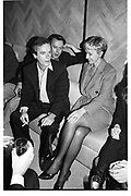Martin Amis; Christopher Hitchens; Tina Brown, party for the Information. New York. 1995. SUPPLIED FOR ONE-TIME USE ONLY> DO NOT ARCHIVE. © Copyright Photograph by Dafydd Jones 248 Clapham Rd.  London SW90PZ Tel 020 7820 0771 www.dafjones.com