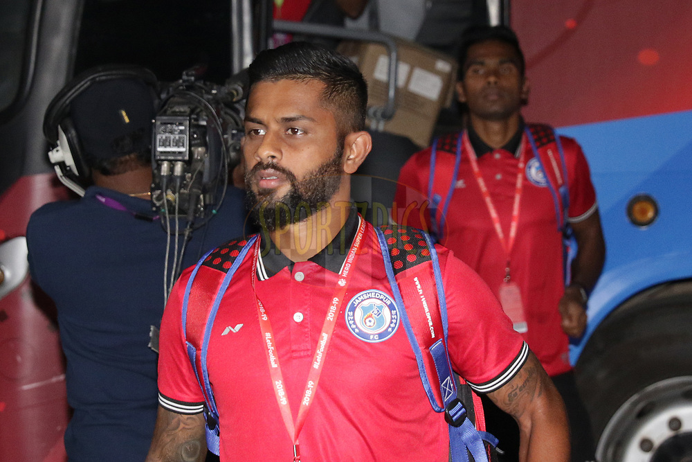 Jamshedpur FC  team arrival during match 25 of the Hero Indian Super League 2018 ( ISL ) between Jamshedpur FC and FC Goa held at JRD Tata Sports Complex, Jamshedpur, India on the 1st November  2018<br /> <br /> Photo by Saikat Das /SPORTZPICS for ISL