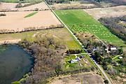 Farmland and suburbs near Madison, Dane County, Wisconsin, USA.