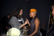 JOY VIELI AND SKIN, Unveiling of the Vivienne Westwood Opus. Hosted by Vivienne Westwood and Karl Fowler of Kraken Opus. Serpentine Gallery. London. 12 February 2008.  *** Local Caption *** -DO NOT ARCHIVE-© Copyright Photograph by Dafydd Jones. 248 Clapham Rd. London SW9 0PZ. Tel 0207 820 0771. www.dafjones.com.