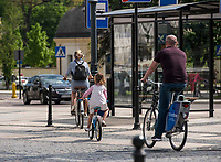 Bialystok, 04.05.2018. Rowerzysci w centrum miasta fot Michal Kosc / AGENCJA WSCHOD