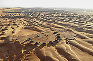 created by dji camera An aerial view for Ash Sharqiya sand dunes, Oman