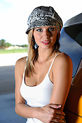 Emylee Cochran portrait in chic trendy outfit with hat