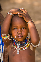 Young Arbore tribe girl, Omo Valley, Ethiopia.