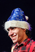 An actor performs at the 1957 story How the Grinch Stole Christmas at the State Institute of Theatre and Cinematography in Yerevan, Armenia on Sunday, Jan 3, 2021. <br /> The piece is written and illustrated by Dr Seuss, published as both a Random House book and in an issue of Redbook magazine. (Photo/ Vudi Xhymshiti)