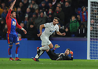 Football - 2016 / 2017 Premier League - Crystal Palace vs. Swansea City<br /> <br /> Angel Rangell of Swansea after scoring the winning goal at Selhurst Park.<br /> <br /> COLORSPORT/ANDREW COWIE