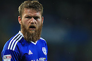 Aron Gunnarsson of Cardiff city looks on.EFL Skybet championship match, Cardiff city v Blackburn Rovers at the Cardiff city stadium in Cardiff, South Wales on Wednesday 17th August 2016.<br /> pic by Andrew Orchard, Andrew Orchard sports photography.