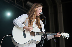 Jade Bird performs on stage on day 1 of Standon Calling Festival on July 27, 2018 in Standon, England. Picture date: Friday 27 July, 2018. Photo credit: Katja Ogrin/ EMPICS Entertainment.
