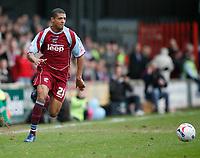 Photo: Steve Bond.<br />Scunthorpe United v Nottingham Forest. Coca Cola League 1. 10/03/2007. Jermaine Beckford attacks for Scunthorpe