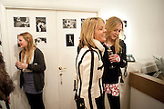 EDIE ASHLEY; LUCINDA GARLAND; ELIZA HENDERSON, The Way We Wore.- Photographs of parties in the 70's by Nick Ashley. Sladmore Contemporary. Bruton Place. London. 13 January 2010. *** Local Caption *** -DO NOT ARCHIVE-© Copyright Photograph by Dafydd Jones. 248 Clapham Rd. London SW9 0PZ. Tel 0207 820 0771. www.dafjones.com.<br /> EDIE ASHLEY; LUCINDA GARLAND; ELIZA HENDERSON, The Way We Wore.- Photographs of parties in the 70's by Nick Ashley. Sladmore Contemporary. Bruton Place. London. 13 January 2010.