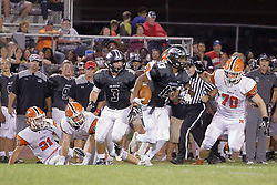 15 September 2017: Normal Community Ironmen at Normal Community West Wildcats for the Chili Bowl.IHSA football, Normal Illinois<br /> <br /> #NormalWestFootball #Wildcats #Ironmen #alphoto513 #IHSA #IHSAFootball