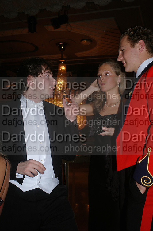 Richard Dennan, Kathryn Carroll and Pete Mann. . The  Royal Caledonian Ball in aid of The Royal Caledonian Ball Trust held at The Grosvenor House Hotel, Park Lane, London W1.  28  April 2005. ONE TIME USE ONLY - DO NOT ARCHIVE  © Copyright Photograph by Dafydd Jones 66 Stockwell Park Rd. London SW9 0DA Tel 020 7733 0108 www.dafjones.com