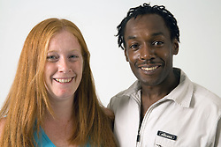 Young couple; smiling,
