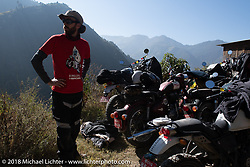Sean Lichter on our first rest stop of the trip during Day-1 of our Himalayan Heroes adventure riding from Kathmandu to Daman, Nepal. Tuesday, November 6, 2018. Photography ©2018 Michael Lichter.