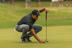 March 23, 2018 - Austin, TX, U.S. - AUSTIN, TX - MARCH 23:  Julian Suri places his ball for a birdie attempt during the WGC-Dell Technologies Match Play Tournament on March 22, 2018, at the Austin Country Club in Austin, TX.  (Photo by David Buono/Icon Sportswire) (Credit Image: © David Buono/Icon SMI via ZUMA Press)