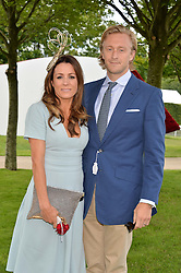 NATALIE PINKHAM and OWAIN WALBYOFF at the Qatar Goodwood Festival - Ladies Day held at Goodwood Racecourse, West Sussex on 30th July 2015.
