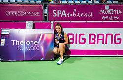 PORTOROZ, SLOVENIA - SEPTEMBER 19: Jasmine Paolini of Italy at Trophy ceremony after playing Singles final during the WTA 250 Zavarovalnica Sava Portoroz at SRC Marina, on September 19, 2021 in Portoroz / Portorose, Slovenia. Photo by Vid Ponikvar / Sportida