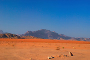 Sandstone valley in Wadi Rum, Jordan.