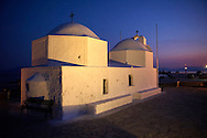 The Byzantine church of Ayios Nikolaos Thalassinos, Aegina port, Saronic Islands, Greece .<br /> <br /> If you prefer to buy from our ALAMY PHOTO LIBRARY  Collection visit : https://www.alamy.com/portfolio/paul-williams-funkystock/aegina-greece.html <br /> <br /> Visit our GREECE PHOTO COLLECTIONS for more photos to download or buy as wall art prints https://funkystock.photoshelter.com/gallery-collection/Pictures-Images-of-Greece-Photos-of-Greek-Historic-Landmark-Sites/C0000w6e8OkknEb8