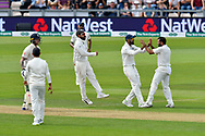 Wicket - Mohammed Shami of India celebrates taking the wicket of Ben Stokes of England during the first day of the 4th SpecSavers International Test Match 2018 match between England and India at the Ageas Bowl, Southampton, United Kingdom on 30 August 2018.
