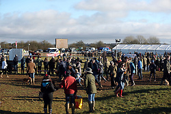 General view of the Cocklebarrow races near Chippenham in Wiltshire.