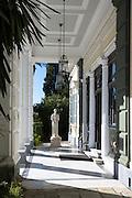 Statue of Kaiserin Elisabeth Von Osterreich at Achilleion Palace, Museo Achilleio, in Corfu, Greece