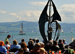 Crowds watching Match Race Germany in Langenargen. Photo:Chris Davies/WMRT